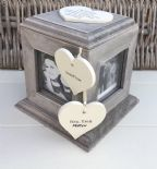 Shabby Chic PERSONALISED Rustic Wood Auntie Aunty Aunt Gift ANY NAME Photo Cube - 332927652973
